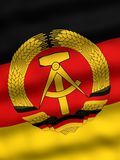 Flag of East Germany. National flag of the East Germany Stock Image