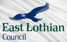 Flag of East Lothian council of Scotland, United Kingdom of Great Britain royalty free illustration