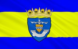 Flag of East Renfrewshire council of Scotland, United Kingdom of. Flag of East Renfrewshire is one of 32 council areas of Scotland royalty free stock photos