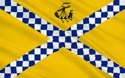 Flag of East Renfrewshire council of Scotland, United Kingdom of. Flag of East Renfrewshire is one of 32 council areas of Scotland royalty free stock photo
