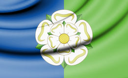 Flag of East Riding of Yorkshire, England. 3d Rendered Flag of East Riding of Yorkshire, England Royalty Free Stock Photo
