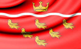 Flag of East Sussex, England. Royalty Free Stock Image