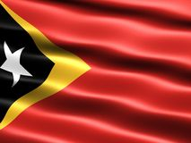 Flag of East Timor. Computer generated illustration with silky appearance and waves Stock Photo