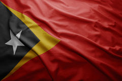 Flag of East Timor Royalty Free Stock Photo