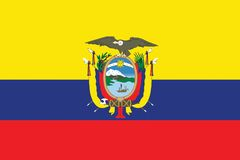 Flag-Ecuador Stock Photography