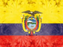 Flag-Ecuador Stock Photo