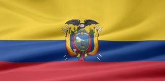 Flag of the Ecuador Royalty Free Stock Photos