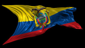 Flag of Ecuador Stock Photography