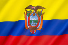 Flag of Ecuador Stock Photo