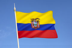 Flag of Ecuador - South America Stock Photo
