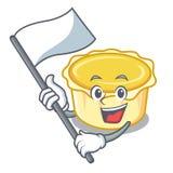 With flag egg tart mascot cartoon. Vector illustration Royalty Free Stock Image