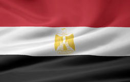 Flag of Egypt. Very large version of a egypt flag Stock Image