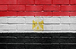 Flag of Egypt on brick wall Stock Image