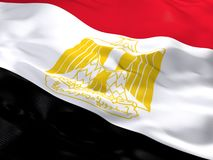 Flag of Egypt. 3d beautiful Flag of Egypt Stock Images