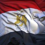 Flag of Egypt, fluttering Royalty Free Stock Image