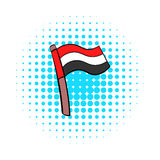 Flag of Egypt icon in comics style Stock Photography