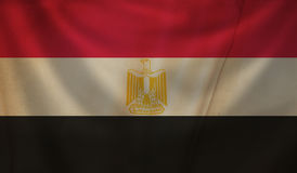 Flag of Egypt. Royalty Free Stock Photography