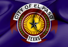 Flag of El Paso, Texas. USA. 3D Flag of El Paso, Texas. USA Royalty Free Stock Photography