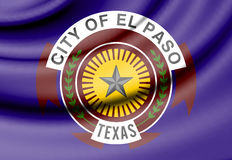 Flag of El Paso, Texas. USA. 3d Rendered Flag of El Paso, Texas. USA Stock Image
