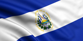 Flag Of El Salvador Stock Photos