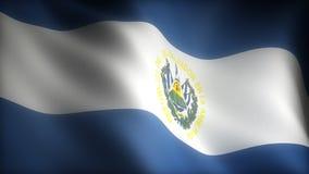 Flag of El Salvador stock video