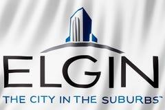 Flag of Elgin city, Illinois US. 3d illustration royalty free illustration
