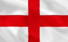 Flag of England. English waving flag (background or wallpaper Royalty Free Stock Image