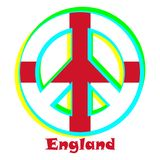 Flag of England as a sign of pacifism stock illustration