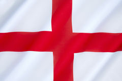 Flag of England. The association of the red cross as an emblem of England can be traced back to the Middle Ages. Used as a component in the design of the Stock Images