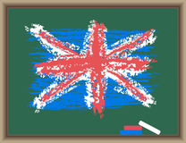 Flag of England on a blackboard Royalty Free Stock Images
