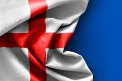 Flag of England. On blue background Stock Image