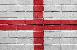 Flag of England on a brick wall Stock Photo