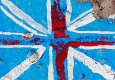 Flag of England on concrete wall Royalty Free Stock Photos