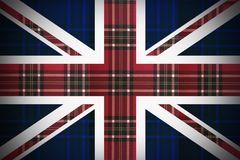 Flag of England with the texture of Scotland stock illustration