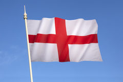 Flag of England - United Kingdom. The flag of England is derived from St. George's Cross. The association of the red cross as an emblem of England can be traced Stock Photography