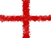 Flag of England by watercolor paint brush, grunge style royalty free illustration