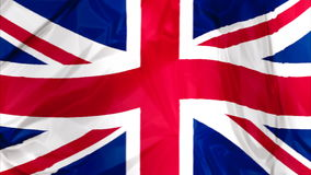 Flag of England waving stock video footage