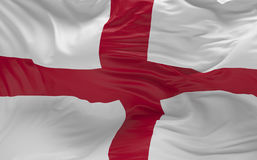 Flag of the England waving in the wind 3d render Royalty Free Stock Photography