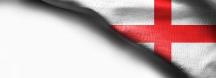 Flag of England on white background. Fabric Flag of England on white background Stock Image