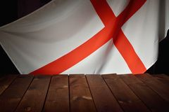 Flag of the England with wooden boards. Royalty Free Stock Photo