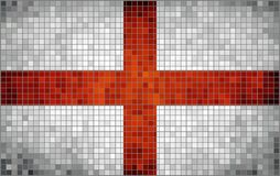 Flag of english counties, mosaic Royalty Free Stock Photos