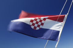 Flag / ensign of Croatia Royalty Free Stock Photo