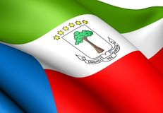 Flag of Equatorial Guinea Royalty Free Stock Image