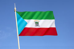 The flag of Equatorial Guinea Stock Photography
