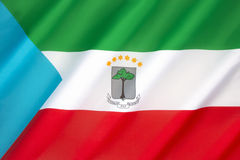 Flag of Equatorial Guinea Stock Image