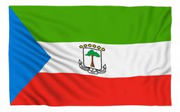 Flag of Equatorial Guinea. Isolated on white royalty free illustration