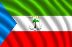 GUINEA ECUATORIAL FLAG FLUTTERING vector illustration