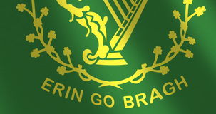 Flag Erin go bragh moving wind