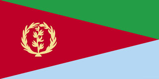Flag of Eritrea Royalty Free Stock Images