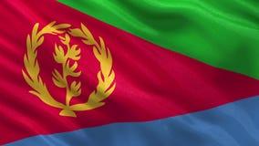Flag of Eritrea - seamless loop vector illustration